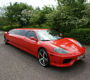 Ferrari Limo in Irthlingborough