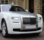 Rolls Royce Ghost - White Hire in Llanfyllin