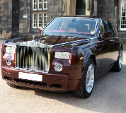 Rolls Royce Phantom - Royal Burgundy Hire in Criccieth