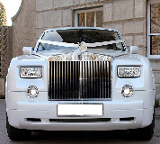 Rolls Royce Phantom - White hire  in Golbourne