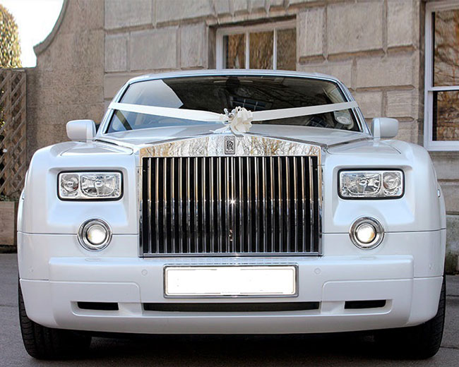 Rolls Royce Phantom - White hire  in UK